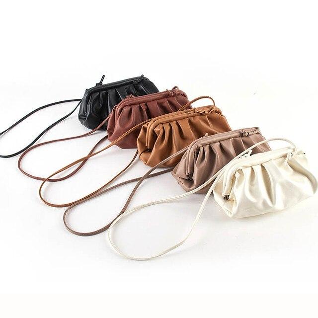 Bag For Women Cloud bag Soft Leather Madame Bag Single Shoulder Slant Dumpling Bag Handbag Day Clutches bags Messenger Bag 4
