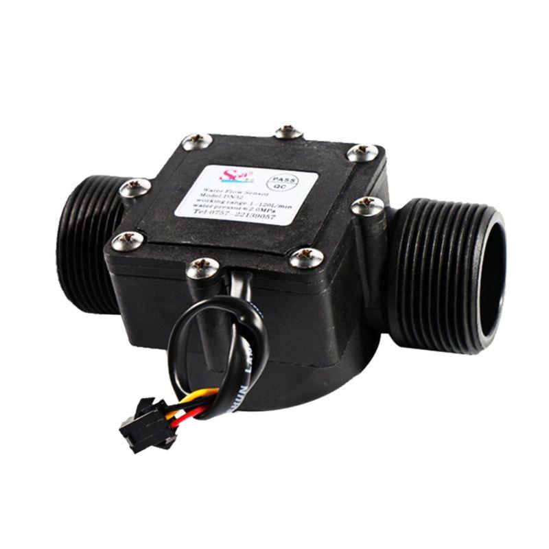 DN32 1-120L/min Water Flow Sensor 32mm Flowmeter Counter Water Controller 1.25