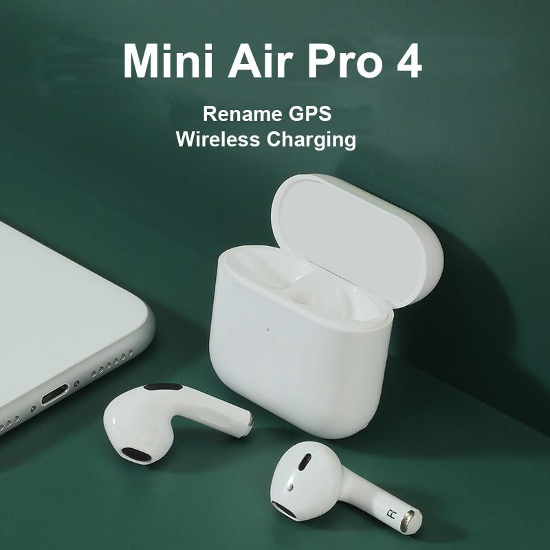Mini Pro 4 TWS Wireless Bluetooth Earphones Waterproof Hi Fi Music Headphone Sports Earbuds Headset For IOS Android Smart Phones