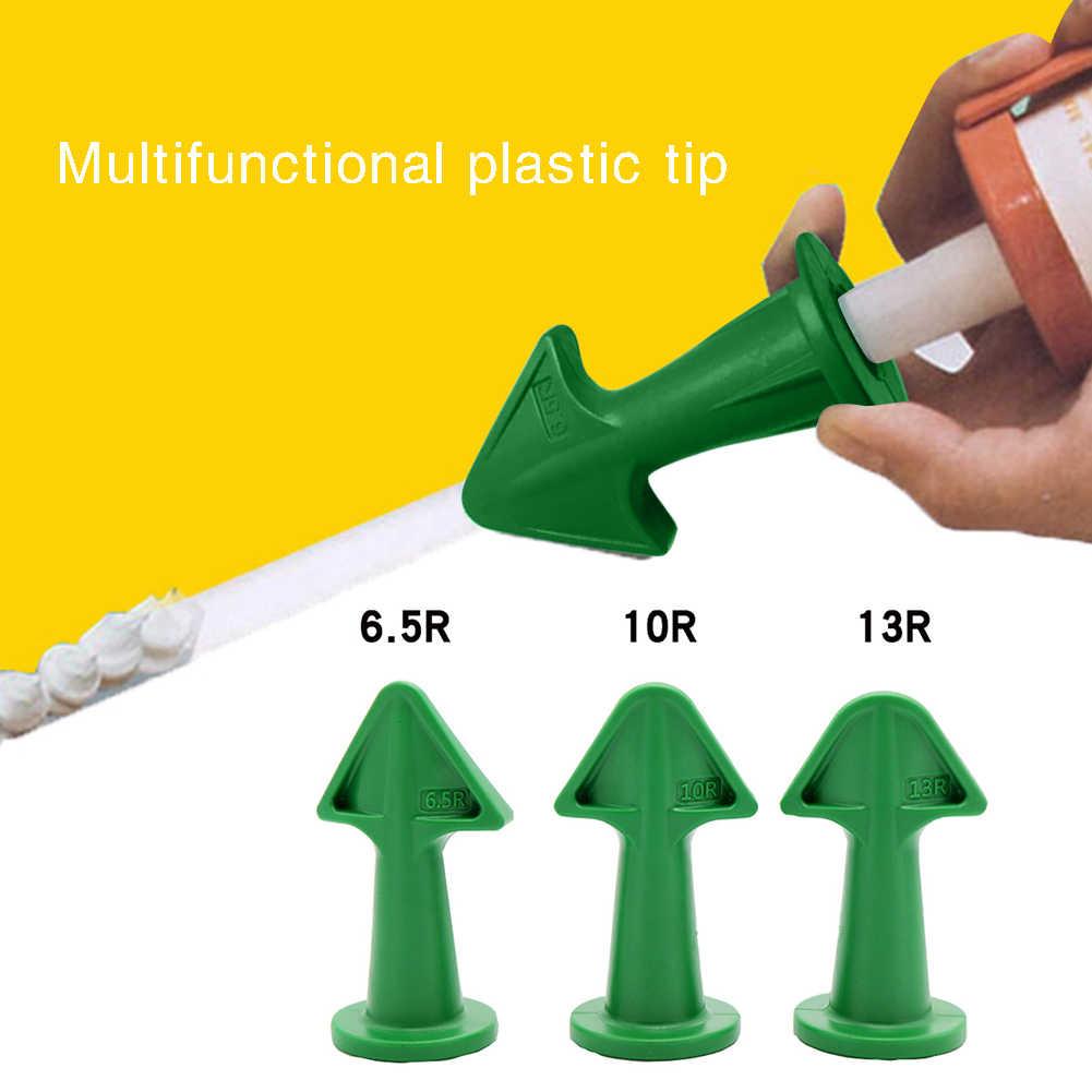 verde boquilla selladora y raspador de pl/ástico para rellenar grietas y eliminar el exceso de relleno boquilla de sellado de silicona Herramientas de calafateo aplicador de boquilla de calafateo