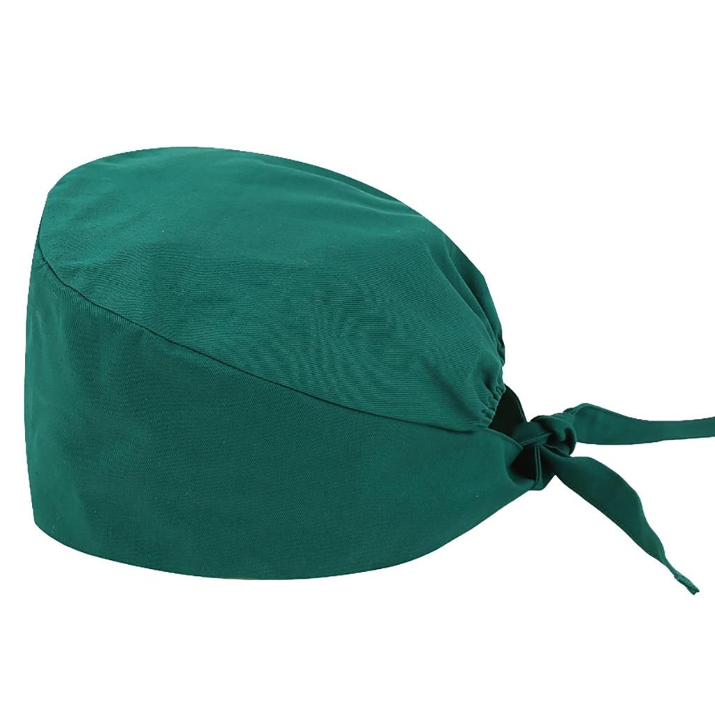 Unisex Scrub Cap Fashion Print And Solid Nursing Nurse Hat Cartoon Printing Pet Casual Hat Cap Skullies Work Bow Cap #T5P