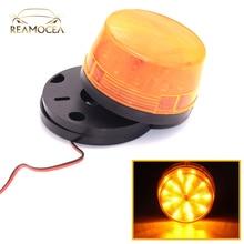 Reamocea Universal Strobe Signal Warning Waterproof DC12V Indicator light LED Amber Light Security Alarm Police Emergency Lamp