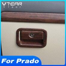 Vtear For Toyota LAND CRUISER Prado 150 storage box handle bowl cover decoration Glove box trim accessories Car interior parts
