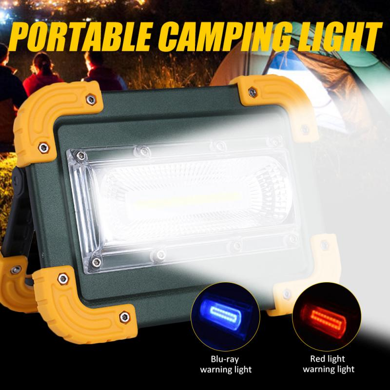 30W COB Work Lamp LED Portable Lantern Waterproof 3-Mode Emergency Portable Spotlight Rechargeable Floodlight For Camping Light