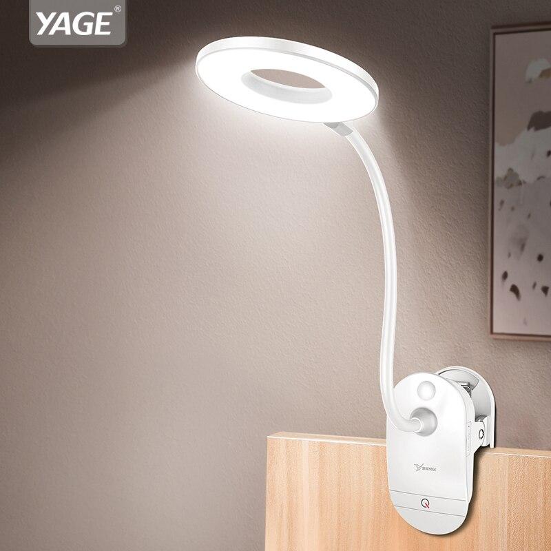 18650 LED Touch Ein / Aus Schalter 3 Modi Clip Schreibtischlampe 7000K Augenschutz Lesedimmer Wiederaufladbare USB Led Tischlamp