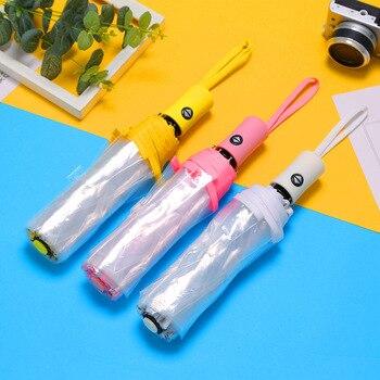 Paraguas automáticos y transparentes Paraguas lluvia Mujer Parasol Guarda Chuva Parapluie Paraguas...