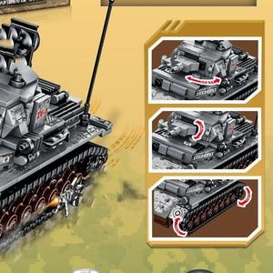 Image 4 - ใหม่ 596pcs WW2 TANK Series เยอรมนี IV TANK Building Blocks อิฐ WW2 ทหาร Figures ของเล่นสำหรับเด็ก