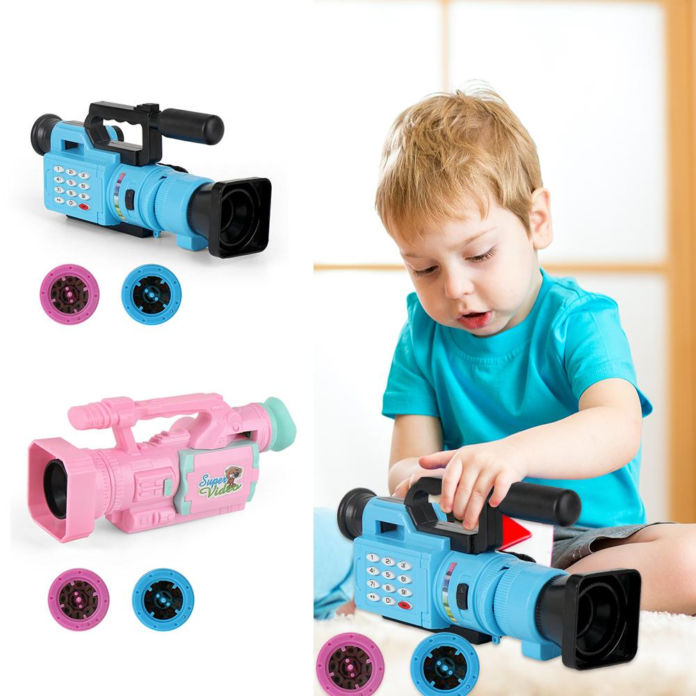 Creative Children Cartoon Video Recorder ABS Novelty Simulation Camera Toys Develop Observational And Analytical Skills