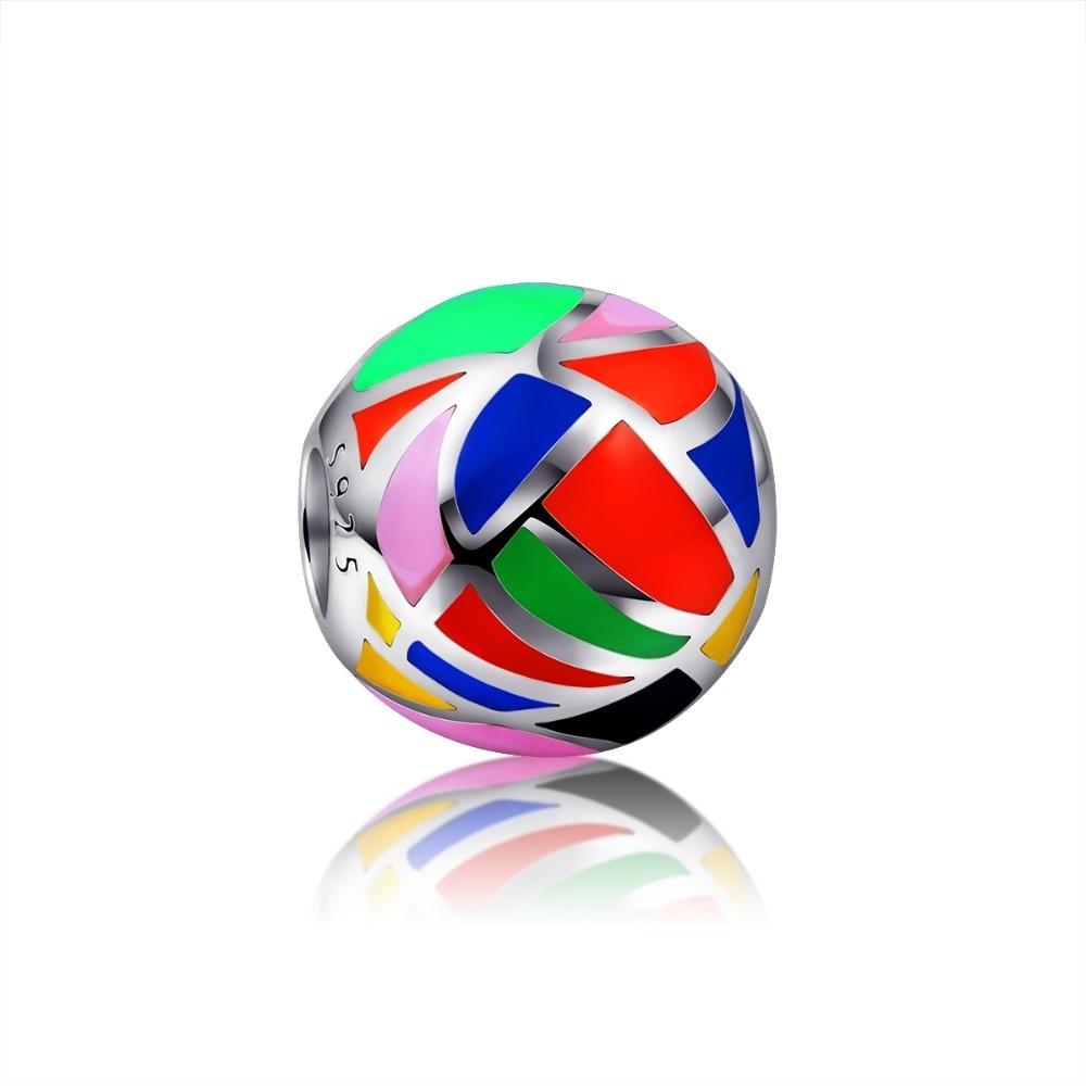 دستبندهای 100٪ 925 استریل نقره ای رنگ نقره ای مهره متناسب با دستبندهای اصلی پاندورای اصلی