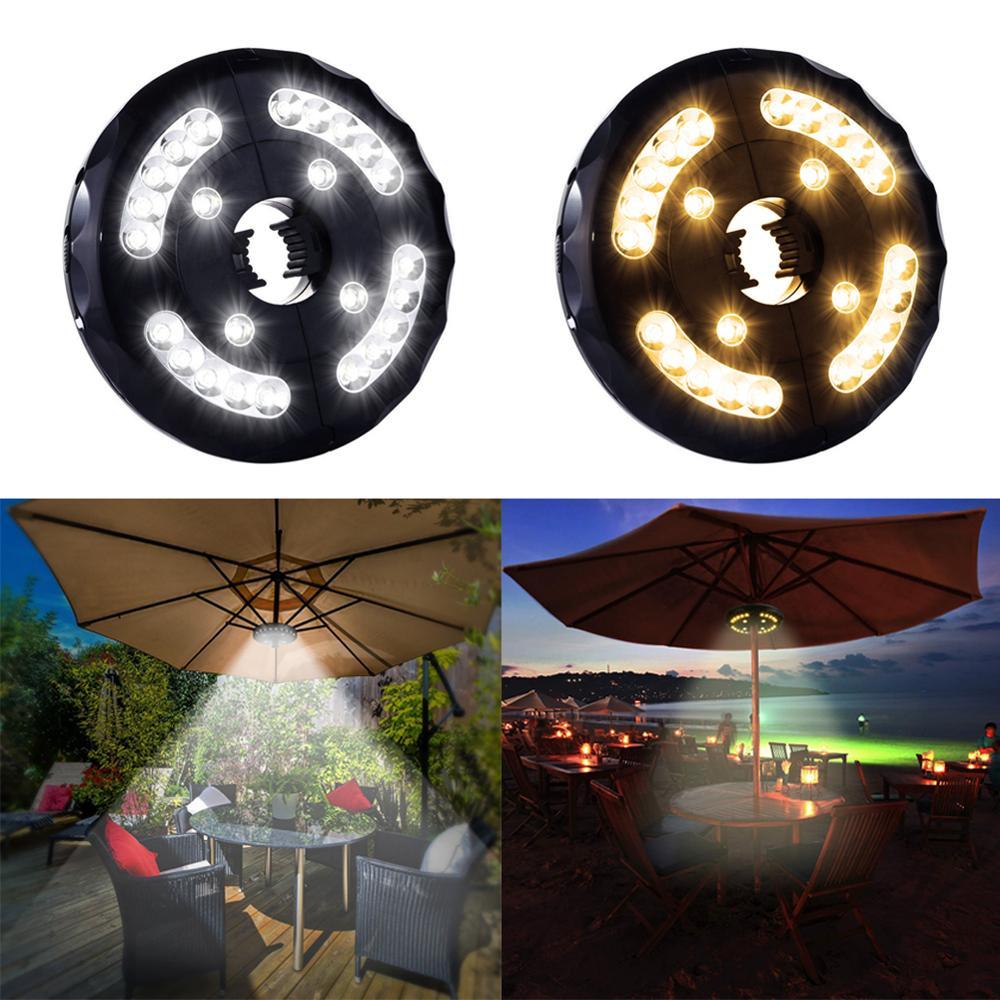 USB Outdoor Tent Camping Lights Parasol Led Cordless Umbrella Pole Light For Lantern Beach Garden Patio Umbrella Light Lamp