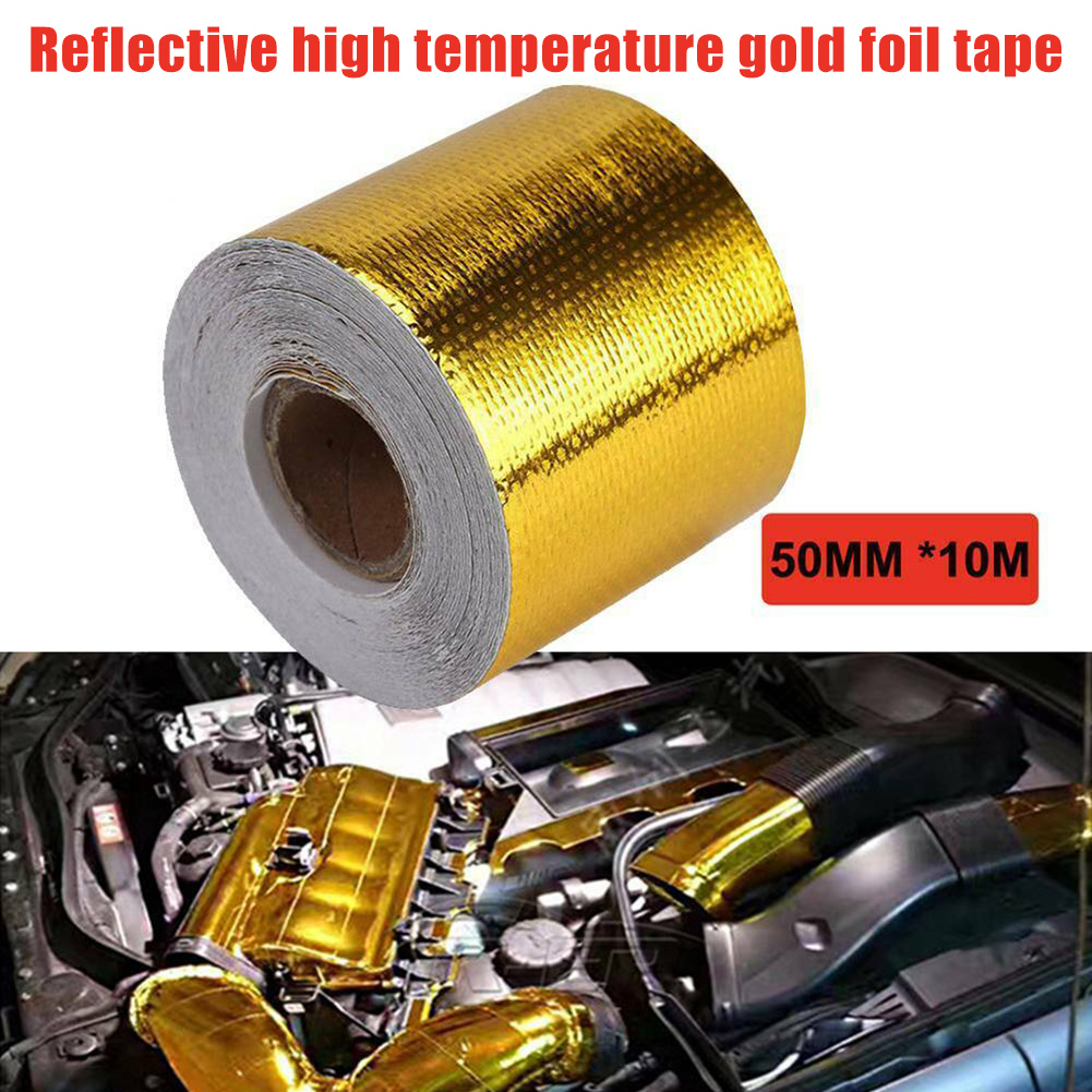 Светоотражающая высокотемпературная Золотая рулонная клейкая