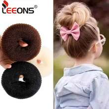 Leeons S/M/L Hair Donut Bun Maker Hair Bun Accessories Hair Tools Styling Diy Magic Bun Maker French Braid Hair Tool 3 Colors