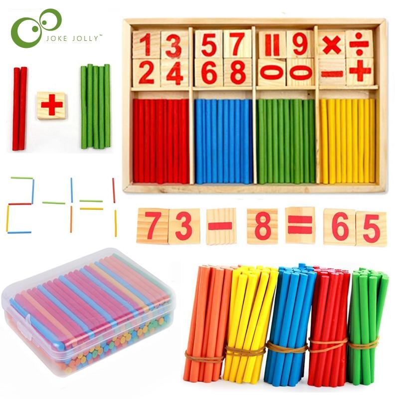Madeira número educacional matemática calcular jogo brinquedo matemática puzzle brinquedos criança aprendizagem precoce contagem varas material crianças zxh