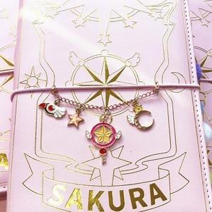 Image 5 - Держатель для карт, аниме, экшн книга сакуры, волшебный блокнот, Милая луна, звезда, дневник, набор канцелярских принадлежностей