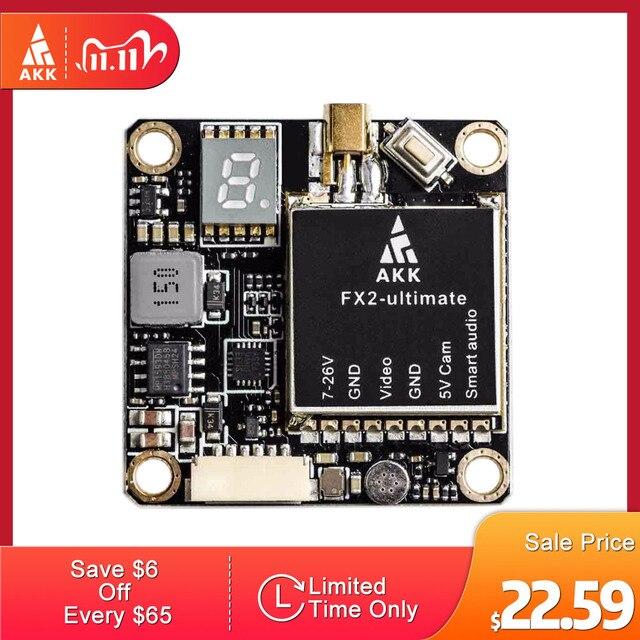 AKK FX2 ultimate VTX de 5,8 GHz, compatible con OSD, configuración mejorada, versión de largo alcance