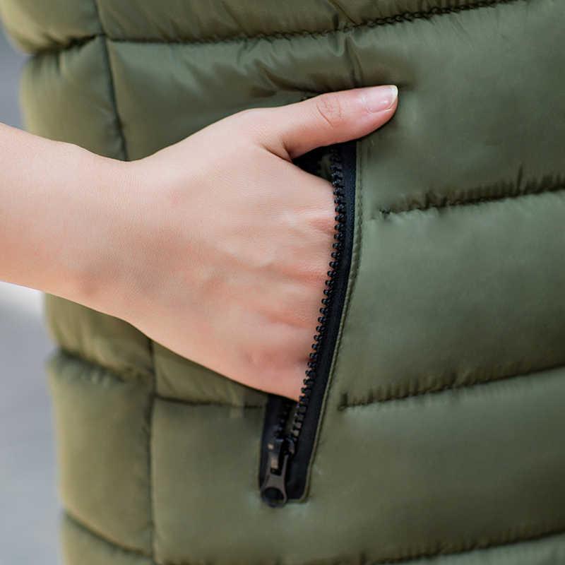 Weste Frauen Winter Große Größe Beide seiten tragen Mit Kapuze Jacke Verdicken Warme weste 4XL weibliche gilet femme weste