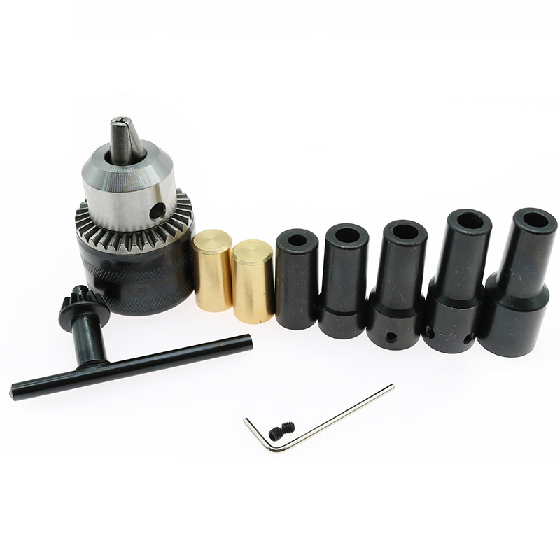 1PCS 5mm/6mm/8mm/10mm/11mm/12mm/14mm Motor Shaft Coupler Sleeve Coupling B16 Drill Chuck Taper Connecting Rod