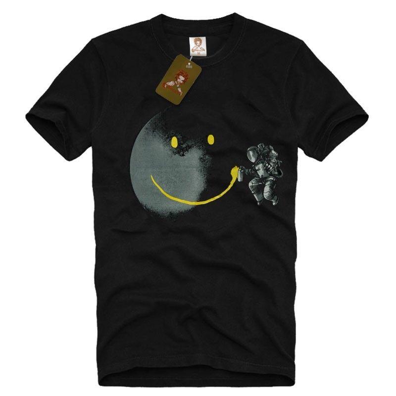 Full Moon Graffiti Tag Smiley Graphic Design Men/'s T-SHIRT face banksy tee S-XXL