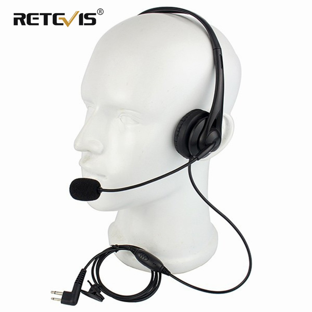 Black 2 Pin PTT MIC Earpiece Headphone Headset For Motorola GP-300/88/2000 PRO1150 SLS-1110 Ham Radio Walkie Talkie C2229A