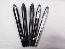 Wakaka – stylo fontaine à encre, métal précieux, cristal bleu, top argent, clip Blanc