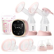 NCVI podwójne elektryczne pompki do piersi 4 tryby i 9 poziomów z 4 rozmiarami kołnierzy i 10 sztuk torebek do przechowywania mleka tanie tanio MATERNITY W wieku 0-6m CN (pochodzenie) akumulator Bez lateksu Wolne od nitrozoaminy Bez ftalanów Bez BPA Bez PCV XB-8782