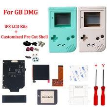 DMG IPS pantalla LCD Kits con personalizado Pre corte carcasa Shell para GB DMG alta de la luz de 36 Color Retro Luz de fondo No necesita de