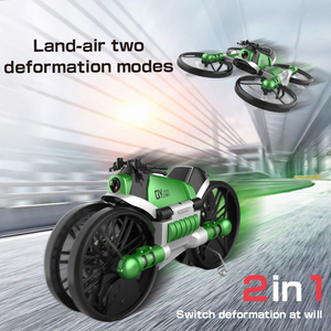 New H6 2-in-1 Folding RC Drone & Motorcycle Vehicle Multi-functional Folding Quadcopter wiht WIFI camera Headless Mode RTR Toys(China)