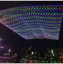 Free shipping LED net light 2m*2m 192LED 110V or 220V high bright LED wedding Christmas lights New year light EU US Plug цена