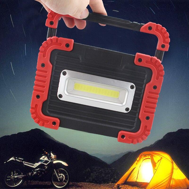 COB LED travail lumière voiture Garage mécanicien maison Rechargeable d'urgence travail lumière extérieure 30W 2500LM 2 Mode projecteur Camping lampe