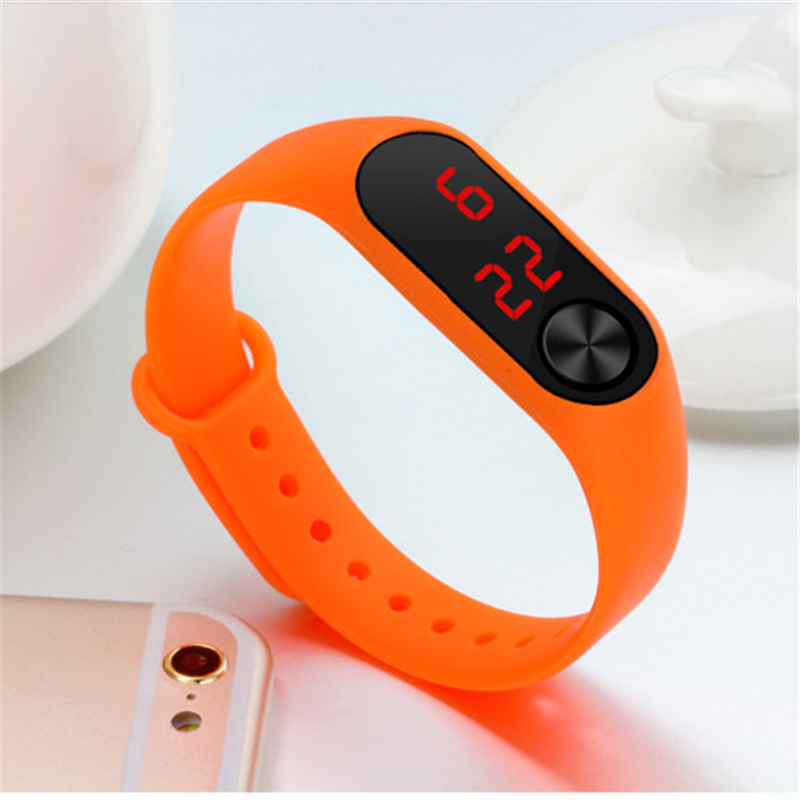 Bracelet Watch Led Children's Wrist Watches Silicone Strap Electronic Digital Clock Military Sports Kid Date Baby Birthday Gift