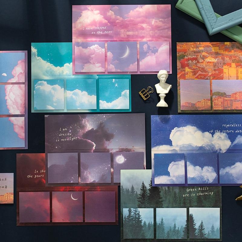 Journamm 60 sztuk Ins stylowe Sky Kawaii biurowe naklejki Do planowania kartki samoprzylepne notatniki Post It To Do zrobienia lista Planner szkolne