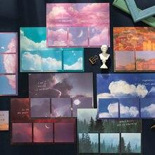 Journamm 60 sztuk Ins stylowe Sky Kawaii biurowe naklejki Do planowania kartki samoprzylepne notatniki przyklejony Do listy Planner szkolne