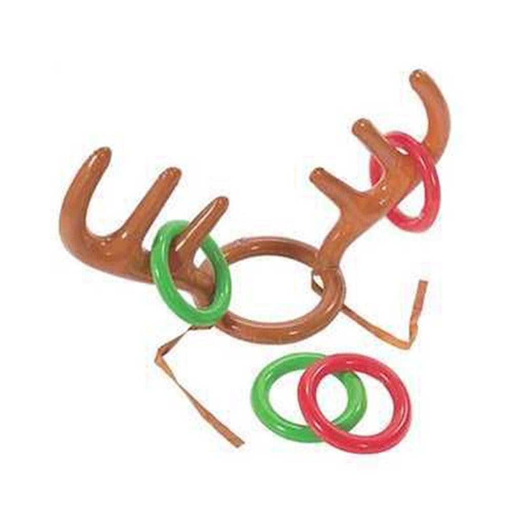 Pvc Inflatable Antlers Hat For Christmas Cute Antlers Hat Christmas Party Throwing Game Loop Deer Head Loop