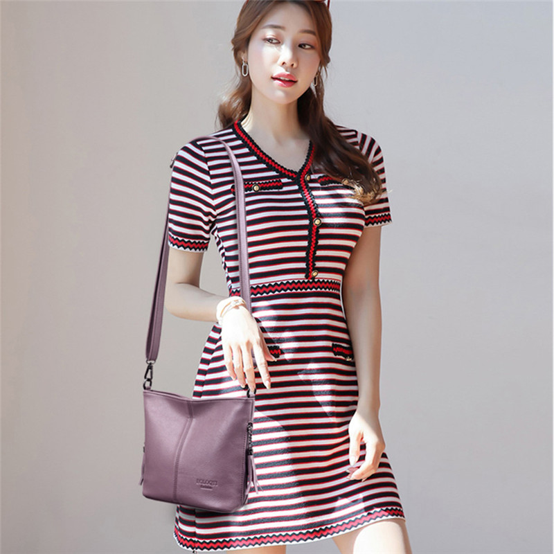 Image 2 - Small Crossbody Bags For Women Soft Leather Tassel Luxury Handbags Women Bags Designer Female Shoulder Messenger Bag Sac A MainShoulder Bags   -