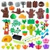 Big Building Blocks Outdoor Forest Plant Series Flower Grass Tree Farm Adornment Accessories Compatible Scenes Toys Kids Bricks