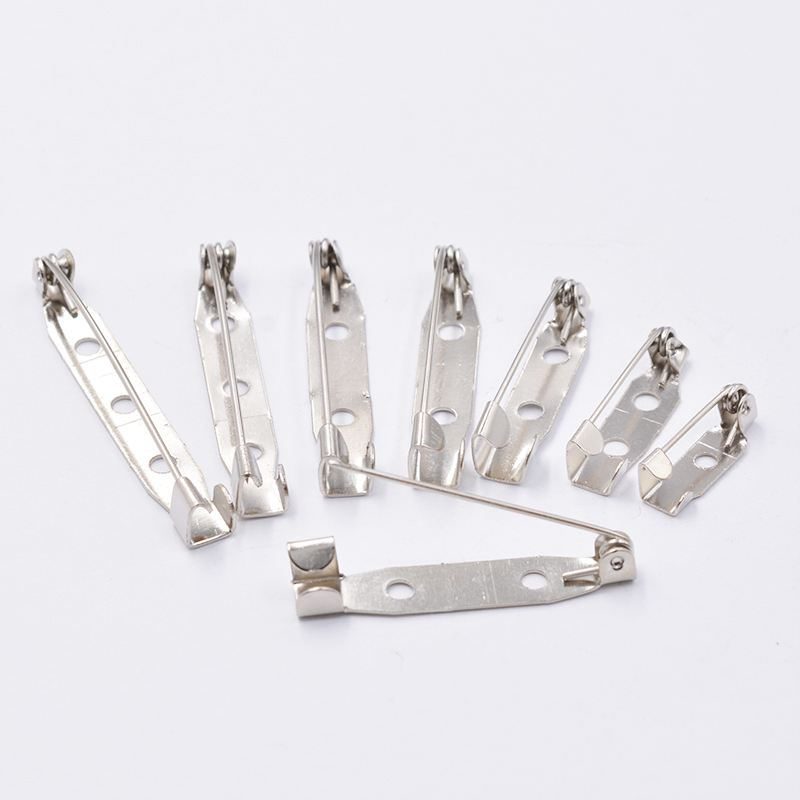 50pcs Metal 15/20/25/30/32/35/38/40mm Brooch Clip Base Pins Brooch Settings Blank Base For DIY Jewelry Making Finding