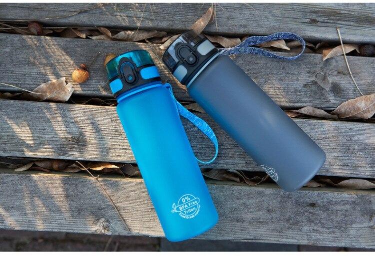 Hbbf395d5b55c48f4bbc06dcfc2ee81e7e Soffe Tritan Plastic Sport Drink Bottle Elastic Cover Space Bottle Riding Hiking Student Portable Outdoor Sport Water Bottles