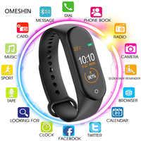 Pulsera inteligente M4 correa de reloj 4 rastreador de actividad deportiva Frecuencia Cardíaca presión arterial Smartband Monitor salud pulsera PK M3 banda 4