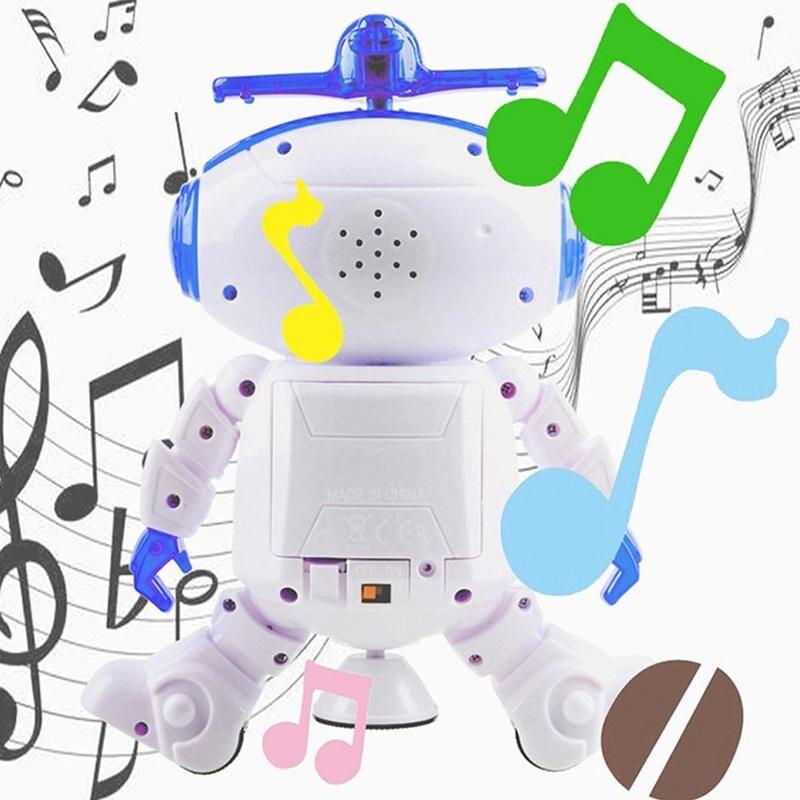 360 Degree Rotating Electronic Walking Dancing Robot Toys With Music Lightening Space Smart Robot For Kids Boys Girls Toddlers