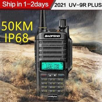 2021 Baofeng UV-9R plus Waterproof IP68  Walkie Talkie High Power CB Ham 30-50 KM Long Range  UV9R portable Two Way Radio 1