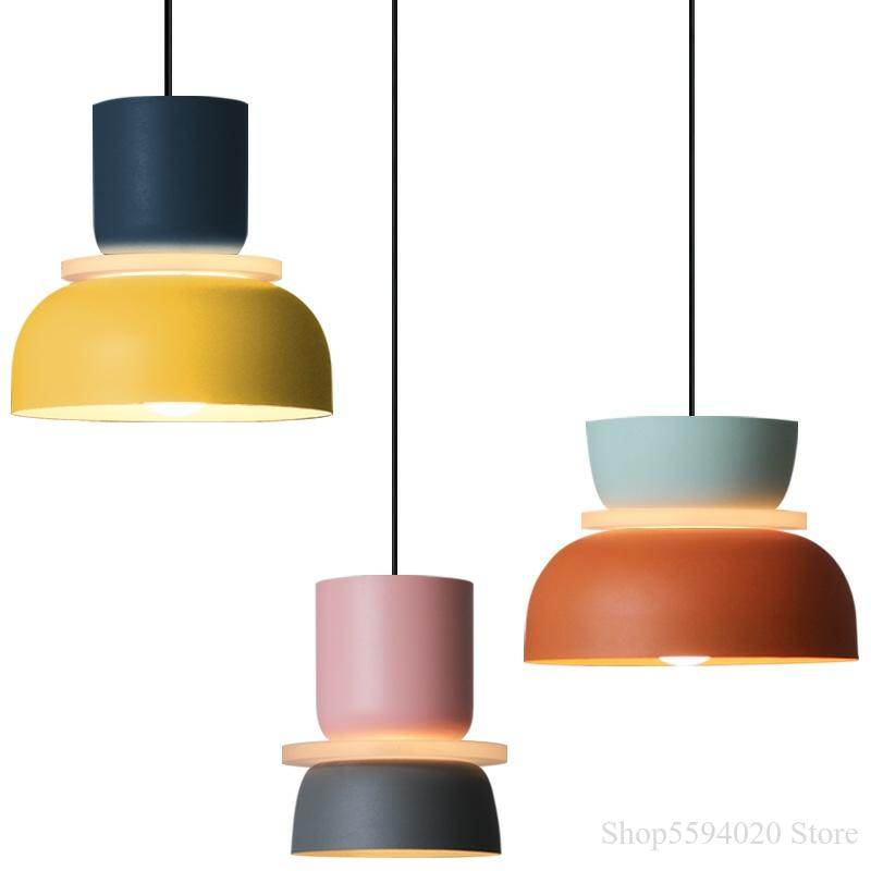 Designer's Lustre Pendant Lights Simple Modern Pendant Lights Halo Hanglamp Nordic Loft Lustres Makaron Lamparas Lighting
