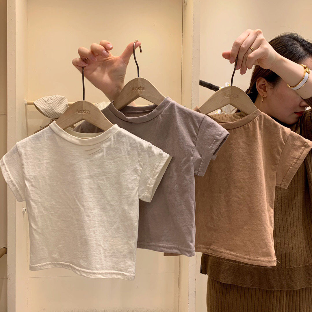 VIDMID Kids T-Shirt Cotton Short Sleeve T-shirts For Boys Tee Girls Tops Children Summer Clothes Baby Sweatshirt Children  P681 2