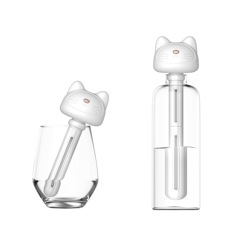 Creative Cat Humidifier Portable Water Bottle Car Mounted USB Donuts Humidifier Gift Customization
