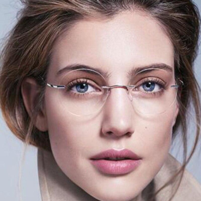 Очки для чтения без оправы Eyesilove из титана светильник женские очки для чтения без оправы из сплава, очки для дальнозоркости от + 1,00 до + 4,00