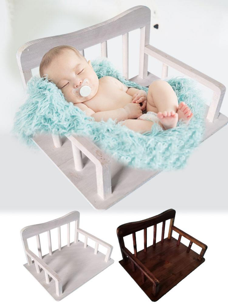 Baby Photography Props Studio Children's Photography Small Wooden Bed Props Newborn / Full Moon Hundred Days Photo Auxiliary