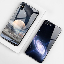Luxury Tempered Glass Phone Case For iPhone 11 Pro Max X XS XR XS Max 8 7 6 6S Plus Glass Cover Case For iPhone 11 Pro Max new iphone case for iphone 11 for iphone11 pro max 5 8 inches 6 1 inches 6 8 inches 6 6s 7 8 plus ix xr max x fashion back cover