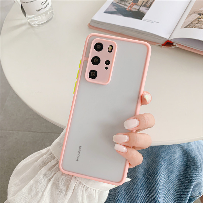 Shockproof  Phone Case Back Cover For Huawei P40 Pro Luxury Translucent Soft Case For Huawei P40 P30 Pro Mate 30 20 Pro Case (13)