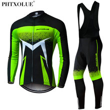 Phtxolue Breathable Long Sleeve Cycling Set Mountain Bike Clothing Autumn Bicycle Jerseys Clothes Maillot Ropa Ciclismo
