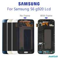 100% Original For SAMSUNG GALAXY S6 G920F G920A Burn-in shadow LCD Display Touch Screen Digitizer Super Amoled Replacement