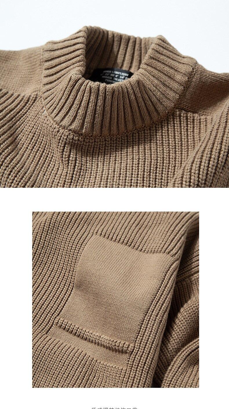 jacquard bolso tricô casual camisa de fundo